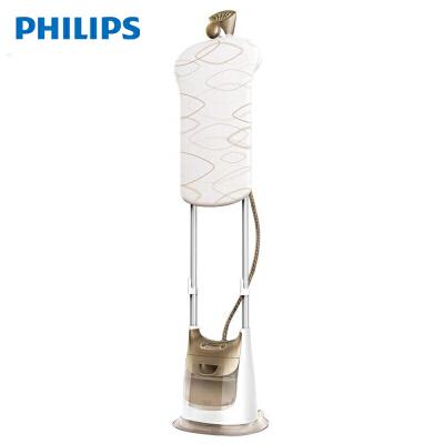 飞利浦(PHILIPS)蒸汽挂烫机 家用双杆蒸汽电熨斗 手持挂式熨烫机 大功率快速祛皱 GC618/68 香槟色 5档蒸汽设定,适合不同类型面料,操作便捷