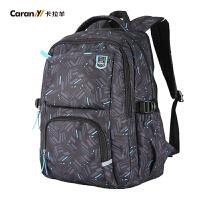 卡拉羊双肩包男 男女学生书包男士背包旅行包休闲电脑包CX5671