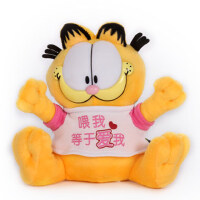 正版T恤加菲猫 车载车饰 毛绒玩具猫公仔 汽车摆件 生日礼物女生