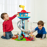 汪汪队立大功(PAW PATROL)超大号�t望塔总部基地轨道停车场滑滑梯宝宝儿童玩具男孩玩具声光版