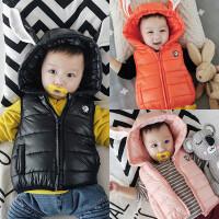 女宝宝春秋季3个月1岁男宝宝婴儿童装马甲秋装秋冬装冬季加厚