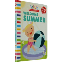 英文原版 Little Scholastic Welcome Summer 儿童启蒙纸板触摸书