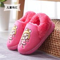 宝宝棉鞋加厚底防滑男女冬季儿童卡通居家全高跟棉拖鞋冬天