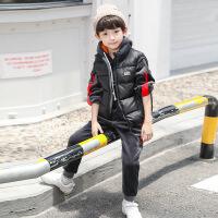 男童冬装套装中大童冬季童装加绒儿童金丝绒三件套