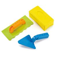 Hape砖匠工具1-6岁沙滩玩具套装坚固耐用运动户外玩具E4010