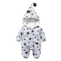 婴儿连体衣服冬季0岁个月宝宝冬装7新生儿加厚爬爬服外出服