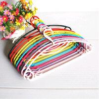 普润 10个装糖果色塑料彩虹晾晒衣架防滑衣服架晾衣架衣挂衣撑阳台晾衣撑 白色