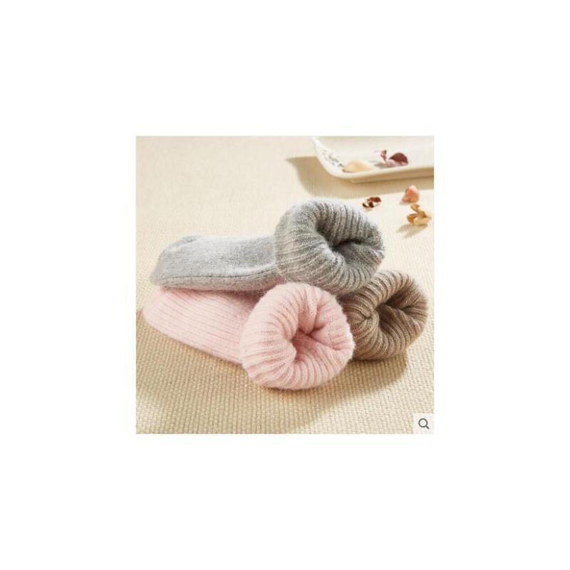兔羊毛袜女加厚冬季中筒袜厚女士兔毛袜加绒保暖冬天羊绒袜子女