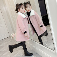 女童呢子大衣2020新款冬装毛呢外套加厚中大童长款童装