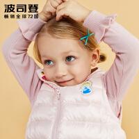 波司登(BOSIDENG)童装新款迪士尼小公主可爱贴标女童宝宝羽绒马甲