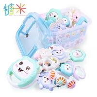 糖米 婴儿摇铃牙胶手摇铃宝宝新生婴儿玩具0-3-6-12个月0-1岁益智