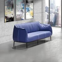 商务单人沙发办公沙发简约会客区三人位沙发北欧皮质接待沙发组合