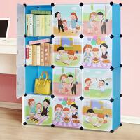 索尔诺卡通书柜书架自由组合玩具收纳柜简易储物置物架柜子