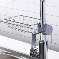 不锈钢水龙头置物架沥水篮厨房用水槽抹布挂篮沥水架水池收纳神器