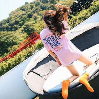 欧洲站chic短袖女夏季新款宽松长款t恤女中长款下体失踪衣服