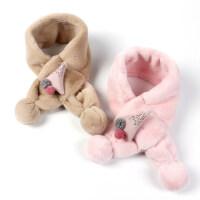 儿童围巾户外保暖宝宝毛绒围脖韩版可爱圣诞树婴幼童脖套潮