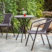 藤椅阳台小茶几小桌椅子靠背椅 室外庭院户外休闲桌椅三件套