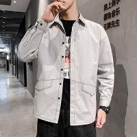 新款港风衬衫男士长袖韩版宽松衬衣青年寸衫潮