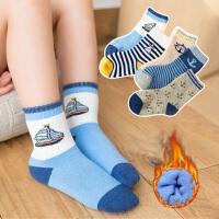儿童袜子时尚纯棉秋冬厚款女童男童新生儿宝宝袜中大童婴儿中筒毛圈袜