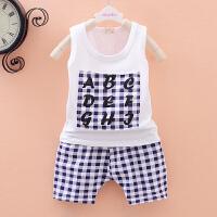 童装男女童夏装背心套装01-2-3岁儿童短袖婴儿衣服两件套