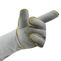 电焊手套牛皮长40cm耐磨防滑阻燃隔热防焊渣焊接作业防护劳保用品