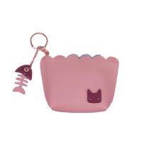 创意硬币零钱包女韩国趣味迷你小钱袋可爱卡通猫咪鱼骨头零钱包