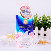 日本cow牛乳石碱 牛奶玫瑰浓密泡沫沐浴露500ml 玫瑰