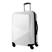 钻石切割面拉杆箱女万向轮密码锁旅行箱登机箱24英寸行李箱
