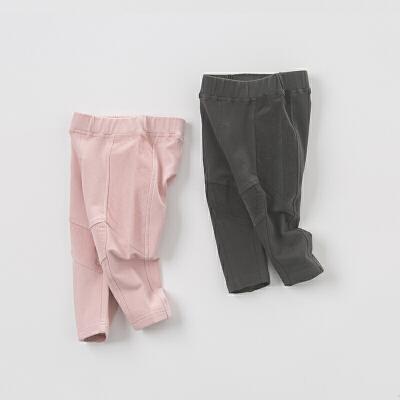 davebella戴维贝拉秋季男女童拼接休闲裤 宝宝裤子DB6153戴维贝拉 每周二上新  0-6岁品质童装