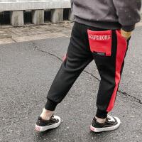 韩版秋冬装儿童加绒加厚运动裤中大童长裤潮童装男童裤子