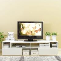 美达斯 电视柜 双抽伸缩电视柜 小户型客厅简约电视柜组合 带抽屉 可调节时尚地柜