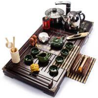 茶具套装冰裂茶具套装四合一实木茶盘功夫电磁炉一体t8h