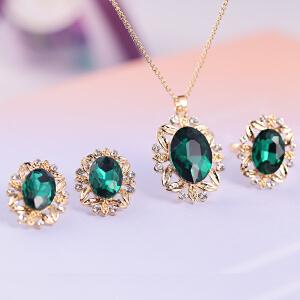 梦 梵雅施华洛世奇水晶元素3件套戒指项链耳钉