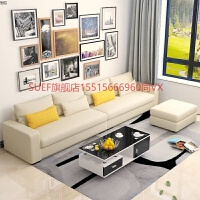 北欧时尚羽绒乳胶沙发现代简约大小户型沙发三人四人布艺沙发 米色 极 MM