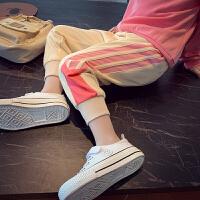 女童运动裤春装儿童裤子宽松束脚裤小女孩休闲裤