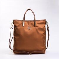 欧美时尚防水尼龙大包包竖款方形单肩斜挎手提女包牛津布包帆布包