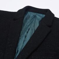 秋冬毛呢大衣西服时尚渐变纹理休闲男士西服