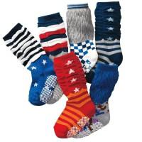 婴儿袜子新款泡泡口袜中高筒婴幼儿袜子点胶地板袜秋冬袜0-2岁潮