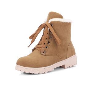 O'SHELL法国欧希尔新品冬季151-8810韩版磨砂绒面内增高女士雪地靴