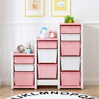 儿童玩具架收纳架宝宝收纳柜绘本书架置物架多层收纳箱盒储物柜子