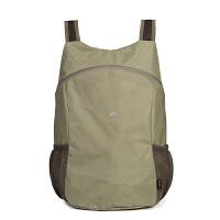 户外折叠背包双肩包旅行包女轻便皮肤包休闲健身运动包防水折叠包 20升以下