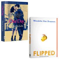 正版现货 Flipped 怦然心动 One Day 英文原版电影原著2本 全英文版小说 进口英语书籍