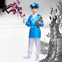 儿童书童演出服装古装国学服汉服表演服装幼儿三字经弟子规男女童