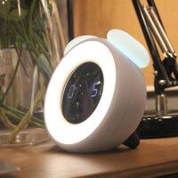 时光小夜灯充电声控触摸感应智能闹钟卧室床头插多功能台灯护眼