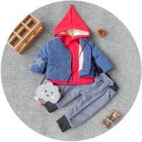 一周半男女童冬装0至3岁宝宝4衣服5冬天1到2儿童6-9个月三件套装