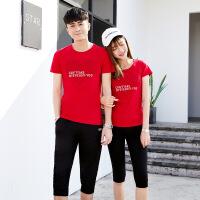 情侣装夏装2018夏季新款短袖套装男韩版休闲男女学生潮流