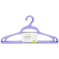 【新品特惠】塑料衣架家用肩无痕实心挂衣架子衣服撑防滑加粗加厚大号 10个