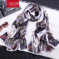 韩版真丝女款冬季保暖桑蚕丝围巾丝巾空调披肩百搭两用超大长巾