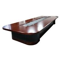 办公家具会议桌长桌会议台大型商务会议室桌椅子组合椭圆长方型