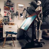 【满减优惠】美术绘画桌设计工作台实木画板设计师书桌绘图桌子制图桌画架画案